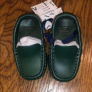 Janie and Jack Leather Driving Shoe Sz 4 Evergreen